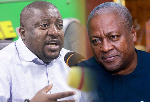 Nana Boakye, National Youth Organizer of NPP and John Dramani Mahama, flagbearer of the NPP