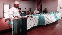Mr. Bashiru Shehu addresses the annual Muslim Executive Foundation seminar