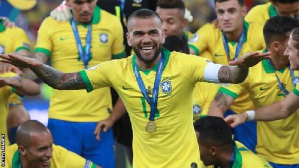 Brazilian full back Dani Alves