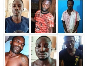 The inmates who escaped from the Kwabenya Police Station last Sunday