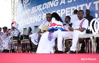 No representative of the opposition, NDC, was present at the gathering