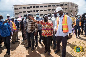 President Akufo Addo Inspects Construction Work On New Abomoso Model SHS