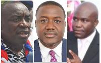 Kwabena Agyei Agyapong, Emmanuel Adumua-Bossman and Fawaz Aliu
