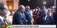 President Akufo-Addo shakes John Maham