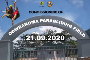 The upgraded Odweanoma Paragliding Site will be commissioned on Monday, September 21, 2020.