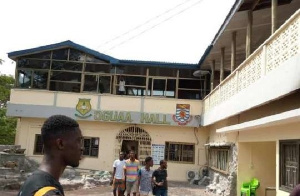 About 10 students were injured from the Oguaa Hall celebration