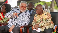 Former President Jerry John Rawlings with President Akufo-Addo