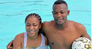 Former Blackstars defender with his wife