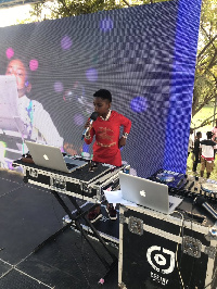DJ Switch doing what she loves to do the most