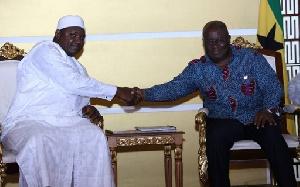 President of The Gambia, Adama Barrow and Ghana's Akufo-Addo [L-R]