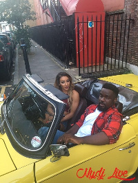Sarkodie and Bobby Lewis on set