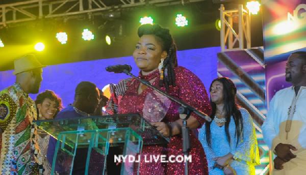 Celestine Donkor at Ghana National Gospel Music Awards 19