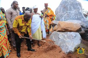 File photo: President  Nana Addo Dankwa Akufo-Addo conducting a sod-cutting ceremony