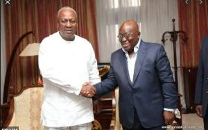 John Dramani Mahama, flagbearer of NDC and Nana Addo Dankwa Akufo-Addo, President of Ghana