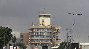 The current ATC tower is located on top of the Ghana Civil Aviation Authority's offices