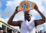 'Proud father' Bukom Banku takes his son through boxing lessons