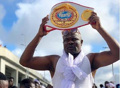 Heavyweight boxer, Bukom Banku