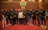 President Nana Addo Dankwa Akufo-Addo with the Black Stars