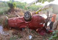 According to the victim, Patrick Ayemah his seat belt saved him