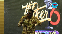 Winner of MTN Hitmaker season 5 performing at the launch