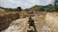 Some excavators used for illegal mining (file photo)
