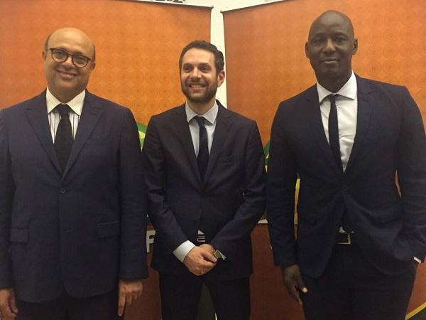 From left: Essadik Alaoui, Amr Fahmy and Anthony Baffoe