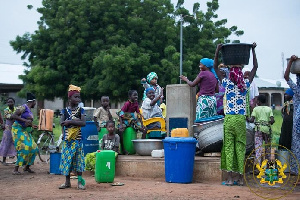 Nana Addo Dankwa Akufo-Addo the water project on Monday.