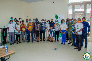 Participants at the workshop in a group photo