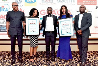 The uniBank team with their awards