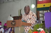 President Nana Addo Dankwa Akufo-Addo addressing the gathering.