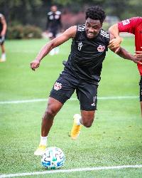 Ghana forward Samuel Tetteh
