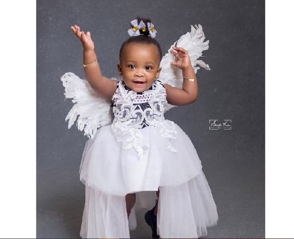 Nana Ama McBrown reveals her daughter's face on her first birthday