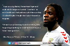 Ghanaian-born Dutch winger, Elvis Manu