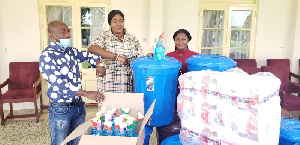 The donation included items to ward of coronavirus