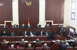 The seven panel judges are headed by Chief Justice Anin Yeboah