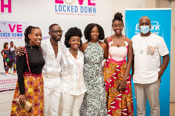 Okyeame Kwame, wife and other personalities at the launch