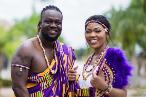 Eddie Nartey and Vida married on September 22, 2018