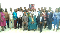 Dr Darius K. Osei in a group picture with participants