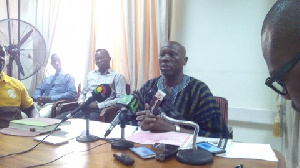 Alhaji Idris Hassan addressing a press conference