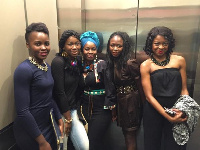 Ama K Abebrese with Lupita Nyong'o and Akosua Busia