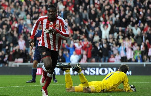 Asamoah Gyan played only one season in the Premier League