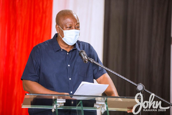 Disregard fake reports of Mahama sharing money