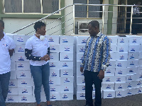 The hand sanitizers were procured from local manufacturers, Kasapreko Company Limited in Accra
