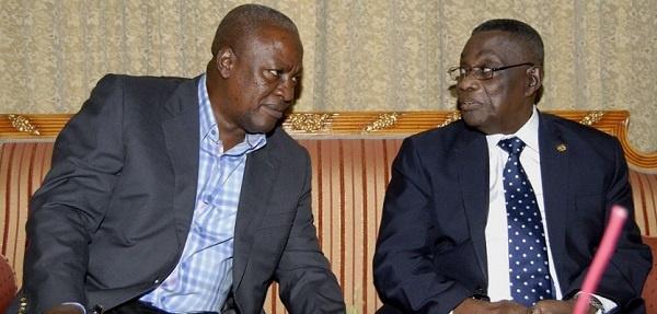 Former President John Mahama and the Late John Evans Atta Mills