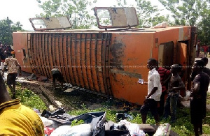 The accident occurred on the Winneba-Cape Coast Highway