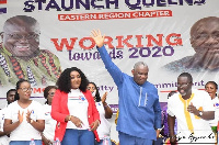 Boakye Kyeremanteng Agyarko at the launch of Staunch Queens