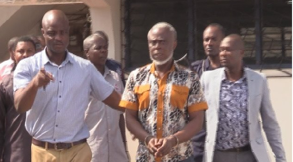 The alleged coup plotters on their way out of court