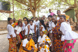 Members of Royal Apostles Youth Choir in their colourful traditional wear during the launch