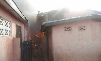 A 15-bedroom house in Kumasi ravaged by fire on Saturday