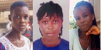 The three kidnapped girls in Takoradi